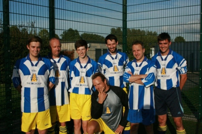The MGroup 5-a-side team