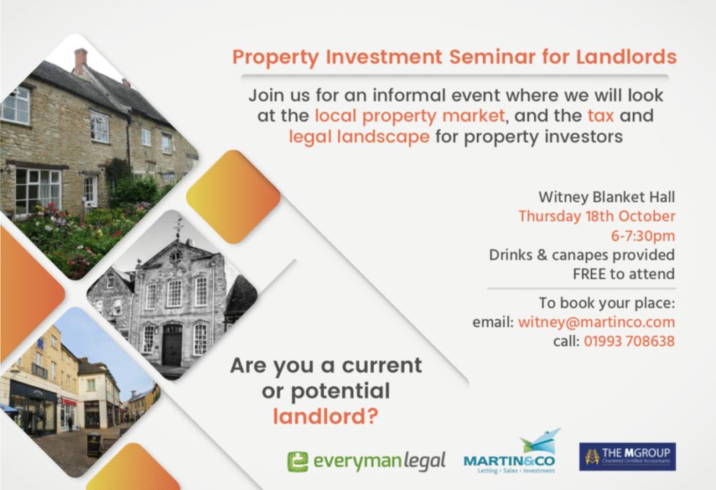 Landlord Seminar Information