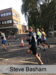 Steve Basham running the half marathon