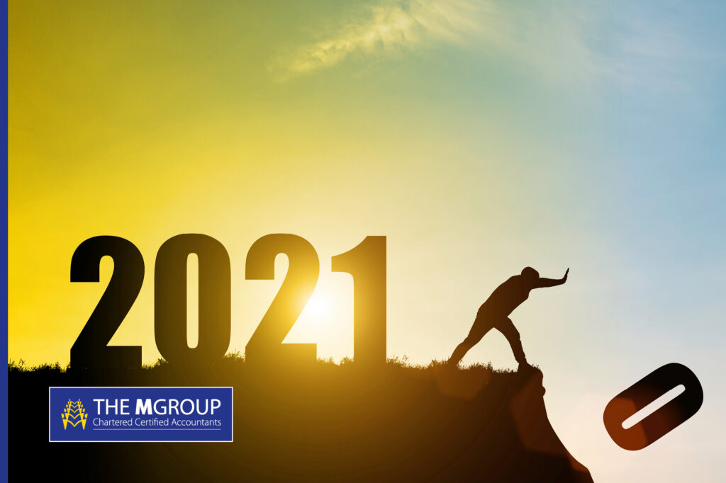Image of 2020 numbers being thrown over a cliff