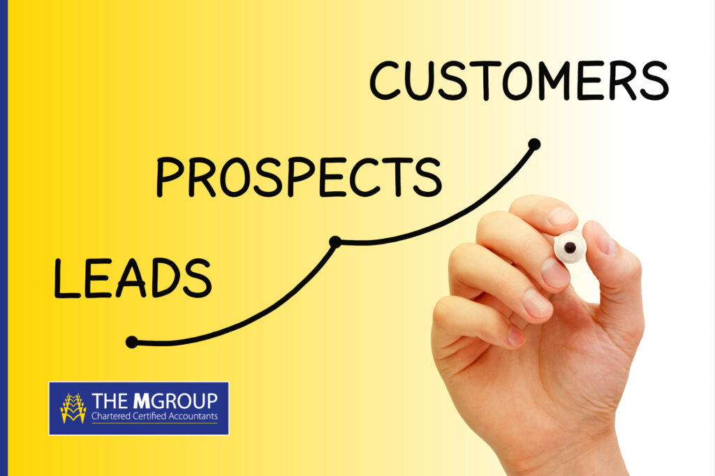 Infographic of Leads, Prospects and Customers
